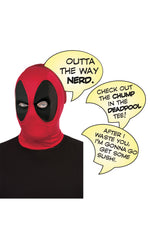 DEADPOOL MASK AND SPEECH BUBBLE SET
