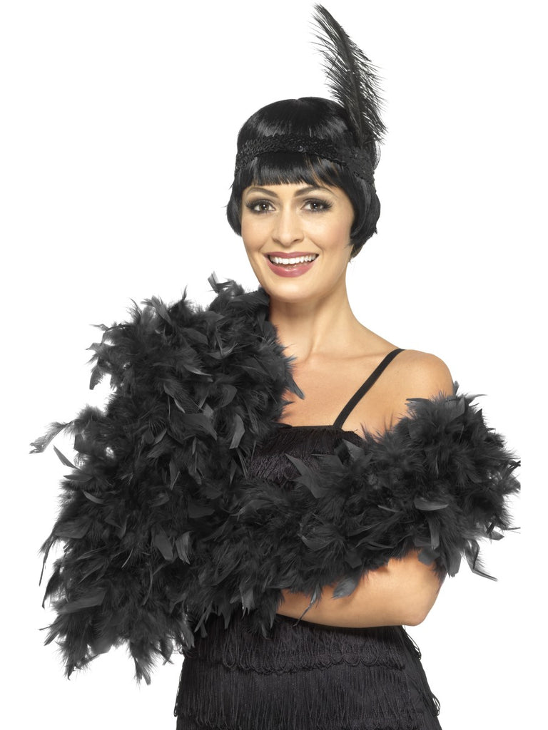180cm Feather Boa - Black