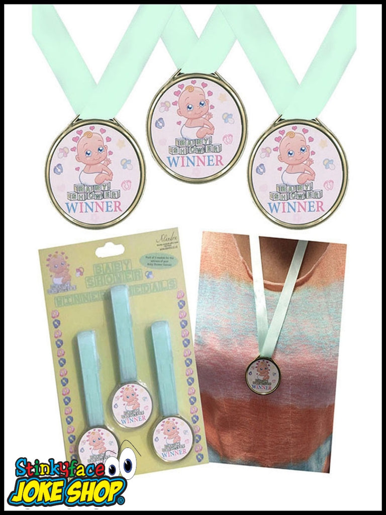 3 Baby Shower Winners Medals