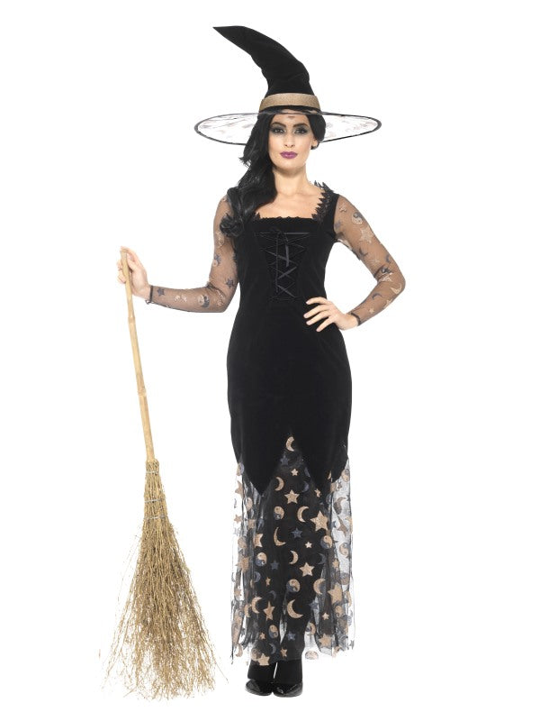 DELUXE MOON AND STARS WITCH COSTUME