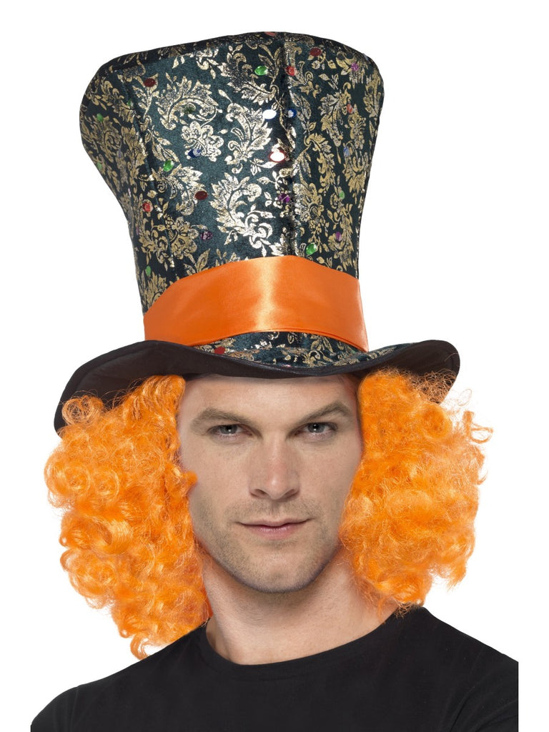 995a689fcff ... Multi Coloured Top Hat with Hair