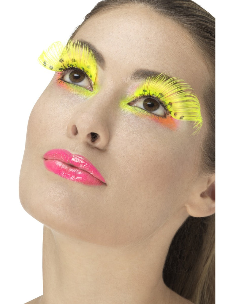 Fever Eyelashes - 80's Polka Dot Neon Yellow