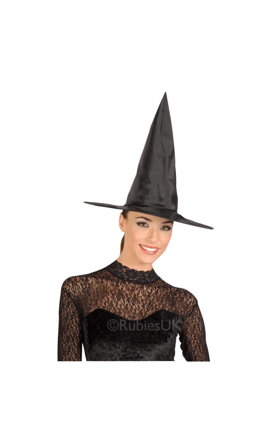 BLACK TAFFETA WITCH HAT