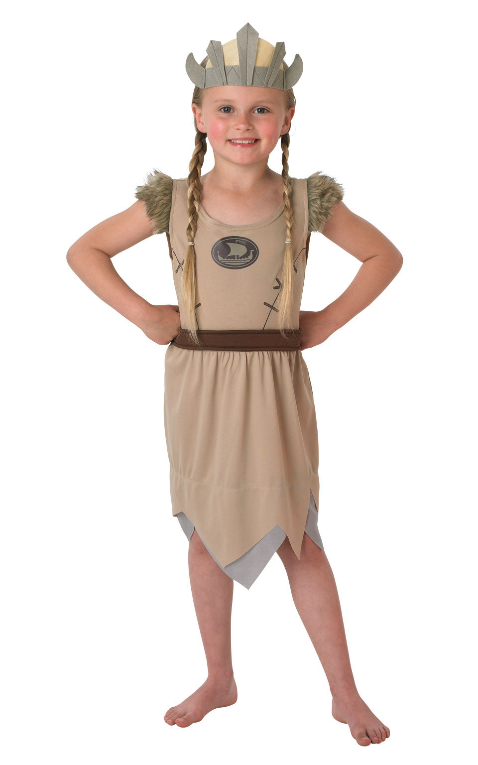 VIKING GIRL Childrens Fancy Dress costume