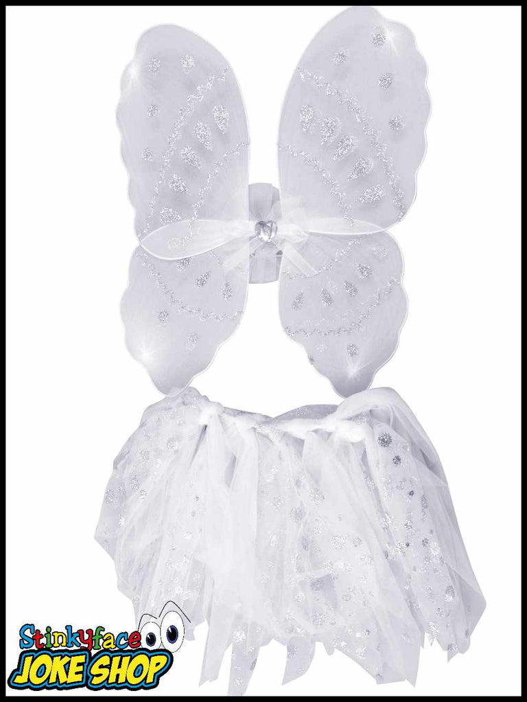 Angel Wings & Tutu Set