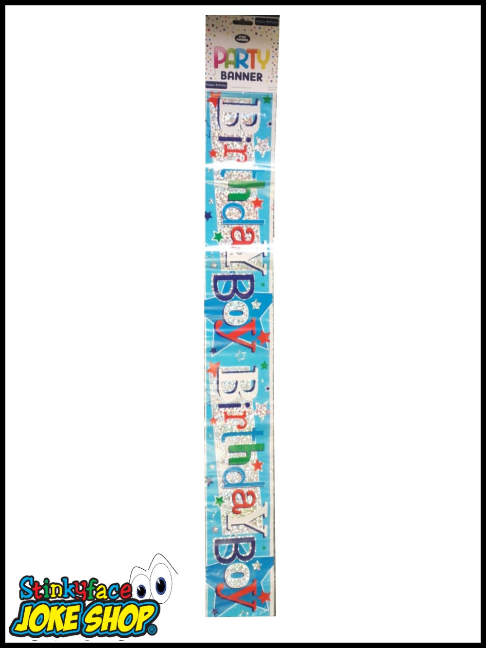 8.5ft Birthday Boy Foil Banner