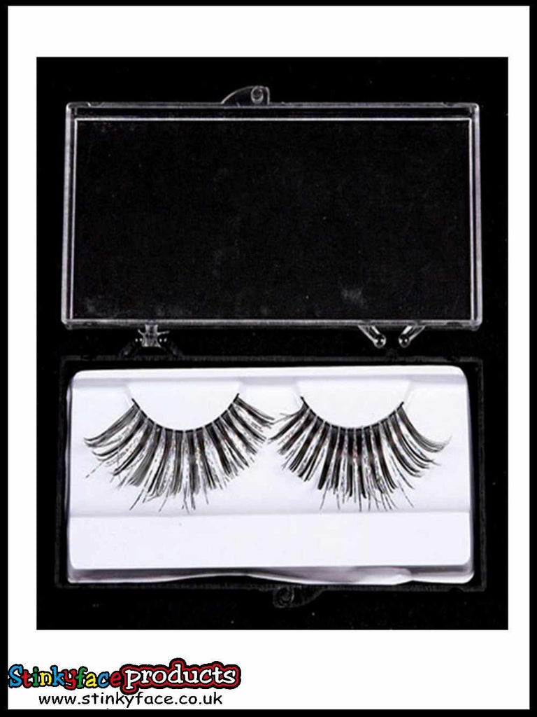 Silver & Black Eyelashes