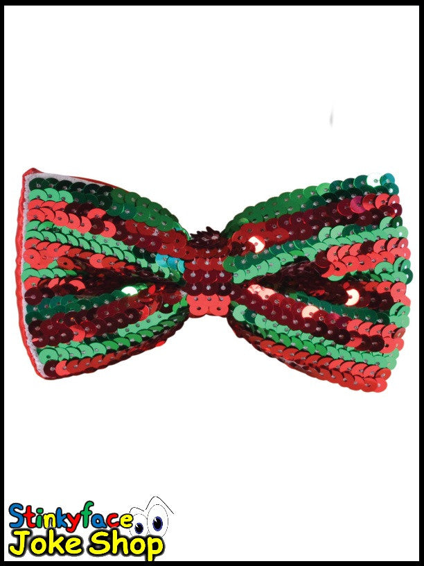 Sequin Bow Tie Red/Green