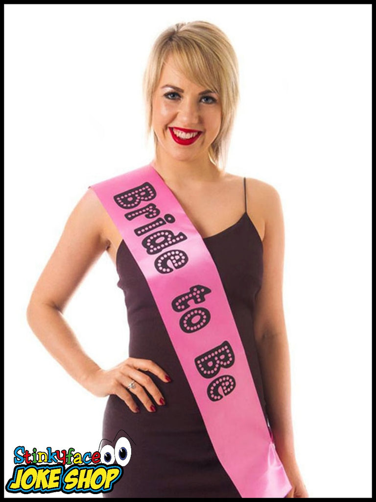 Bride to Be Miss Behave Pink Sash