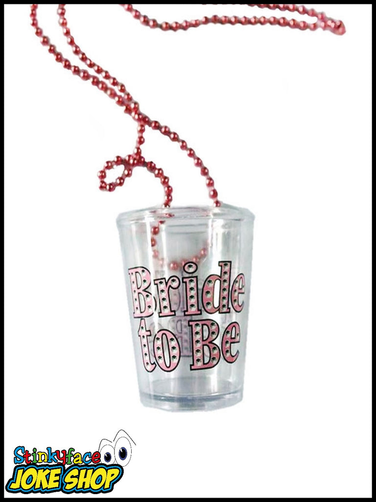 Bride to be Shot Glass on Necklace