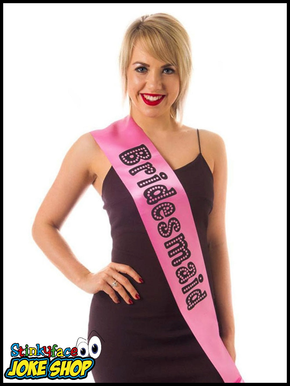 Bridesmaid Sash Miss Behave Pink
