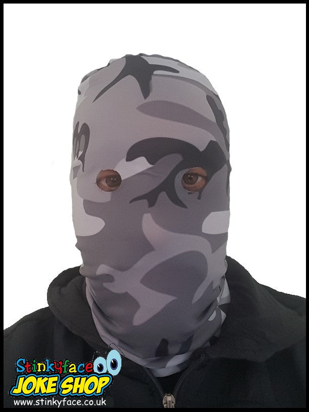 Camouflage Arctic DPM Printed Lycra Face Mask