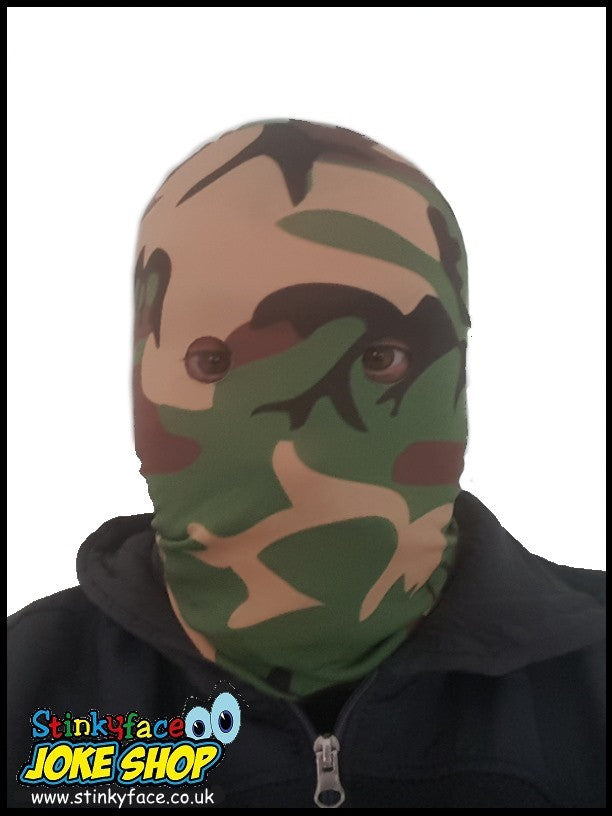 Camouflage Green DPM Printed Lycra Face Mask