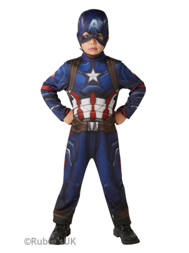 Captain America Kids Classic Fancy Dress Costume