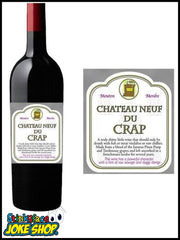 Wine Bottle Labels with Gift Bag - Chateau Neuf Du Crap