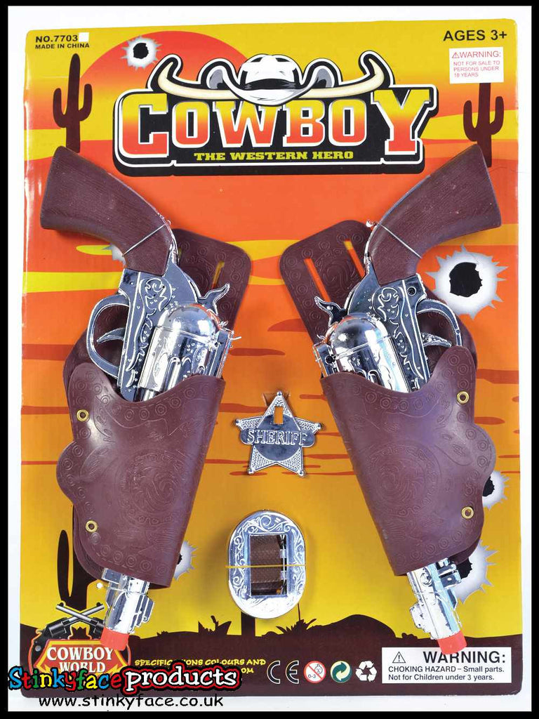Childs Cowboy Holsters & Gun Set
