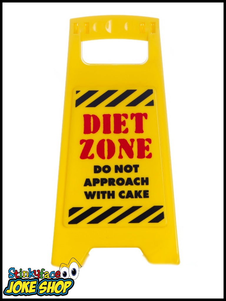 Desk Warnng Sign - Diet Zone