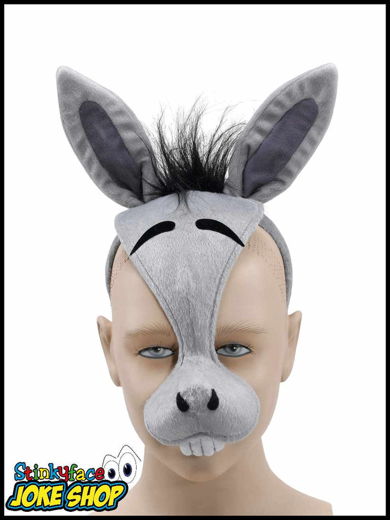 Donkey Animal Mask Headpiece with Sound