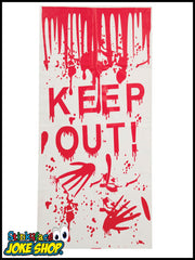 Halloween Door Poster - Keep Out!