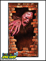 Halloween Door Poster - Melting Zombie