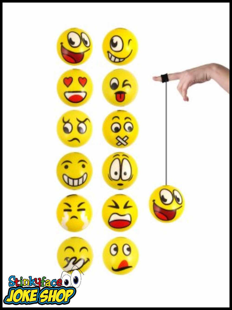 Emoji Face Return Ball 6cm