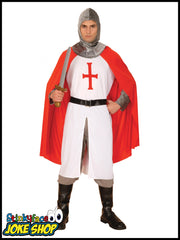 English Knight Crusadar Soldier Adult Costume