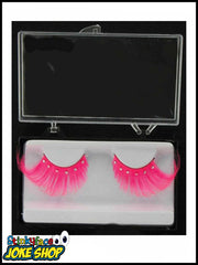 Eyelashes Pink Feather and Stones