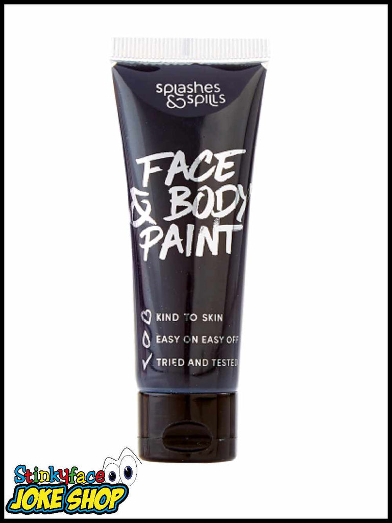 Face & Body Paint Tube - Black 30ml