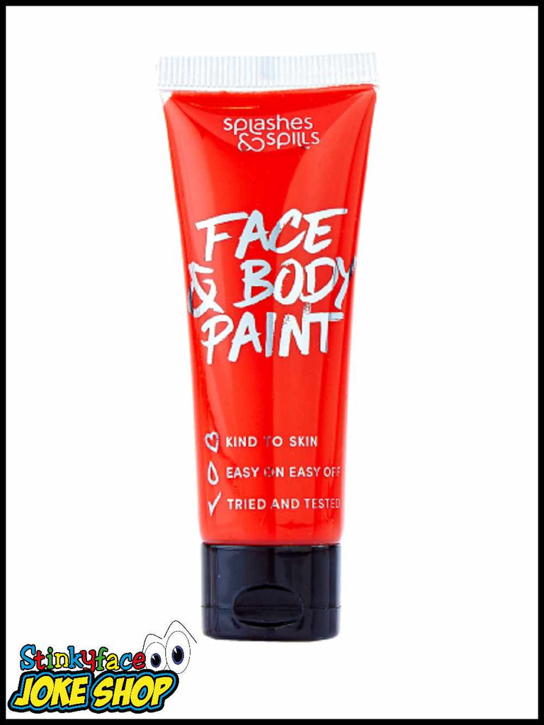 Face & Body Paint Tube - Red 30ml