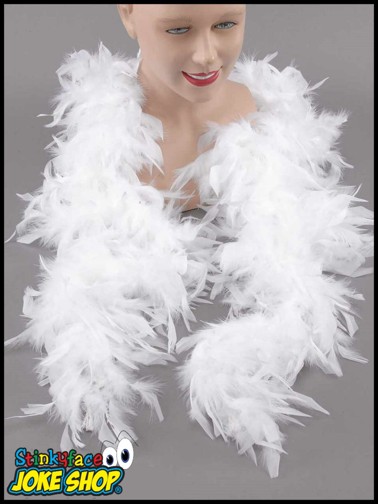 2M Feather Boa - White