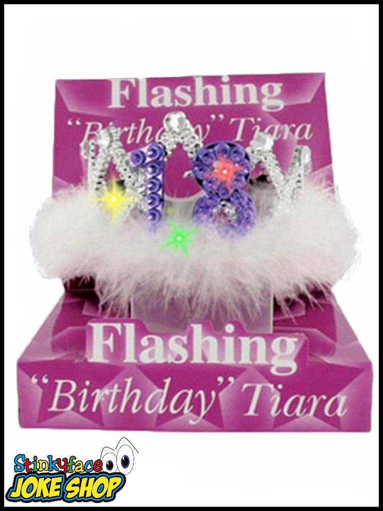 Adult Princess Birthday Girls Party Accessories Alandra Hats Masks Flashing 30th Tiara