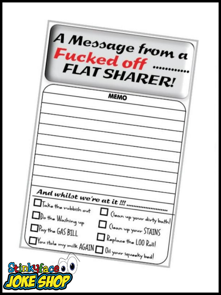 Cheeky Memo Pad - Flat Sharer
