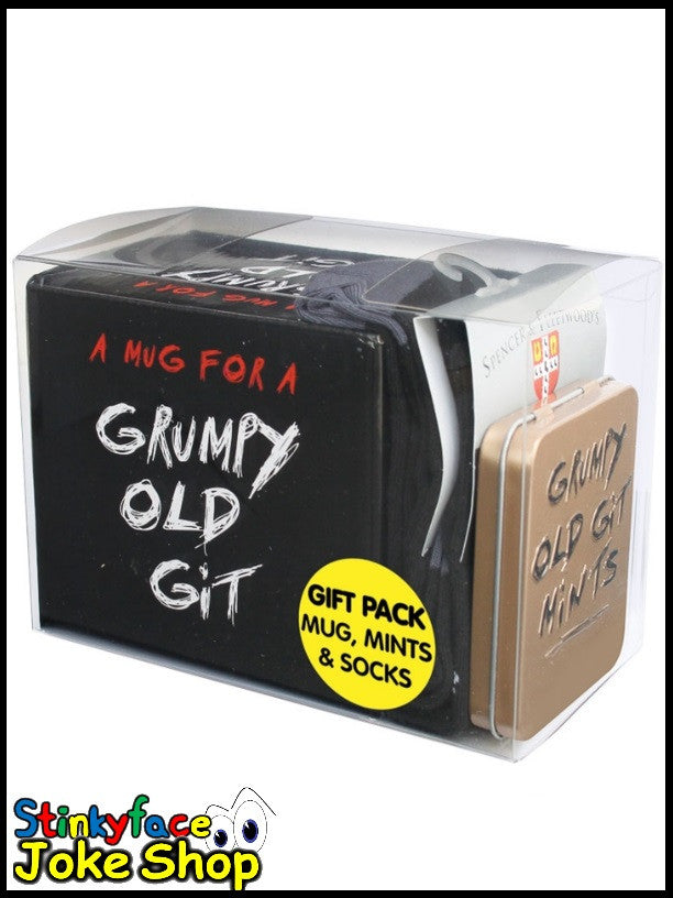 Gift Pack - Grumpy Old Git Mug, Mints & Socks