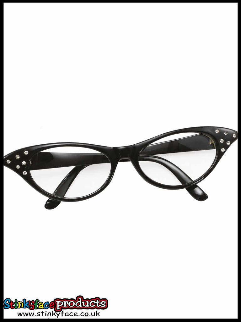 Glasses - 50's Female Style Black