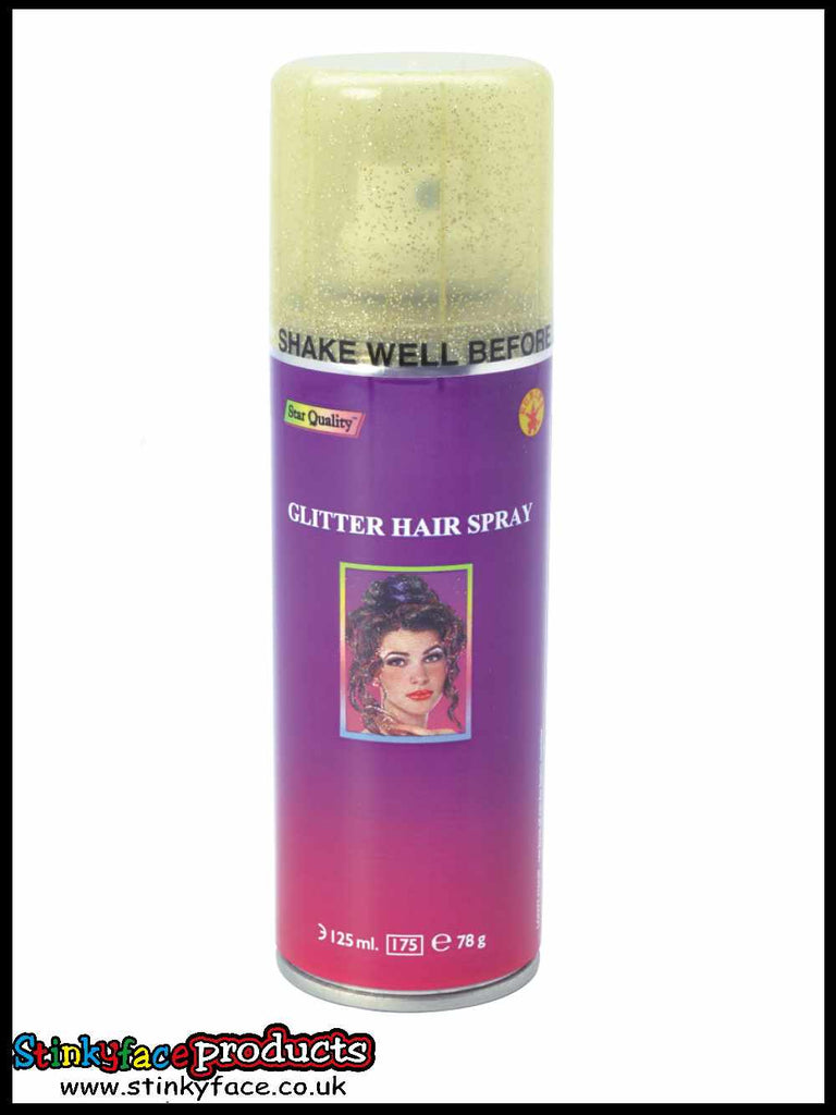Gold Glitter Hairspray 125ml