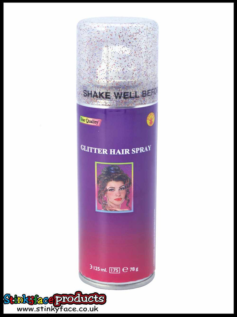 Multi Coloured Glitter Hairspray 125ml