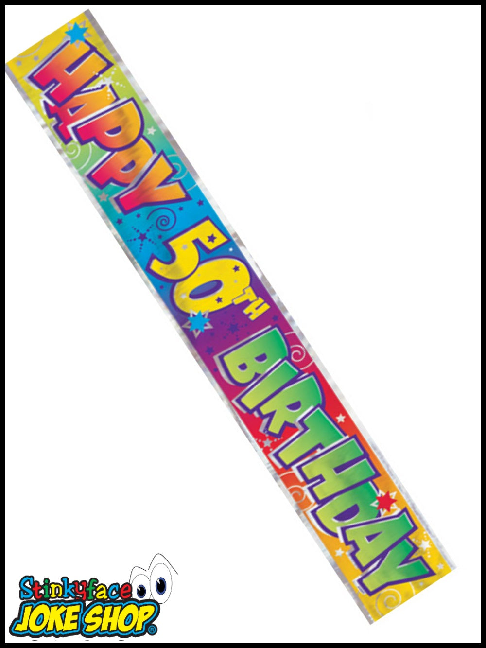12ft Happy 50th Birthday Foil Banner
