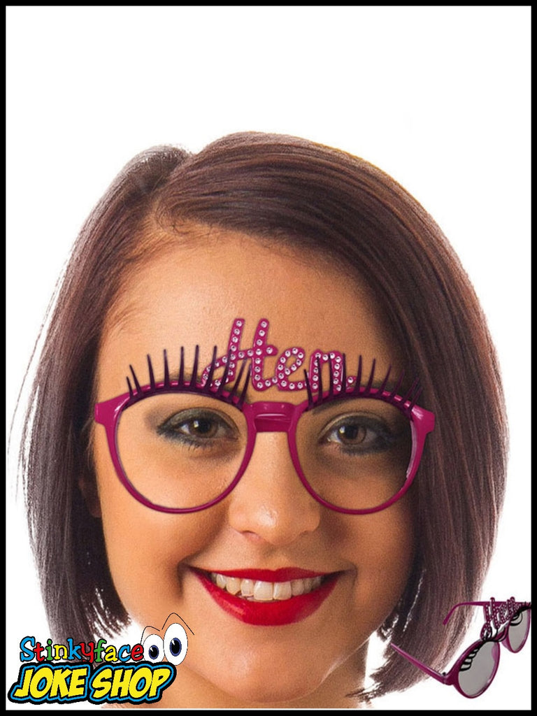 Hen Night Lashes Party Glasses