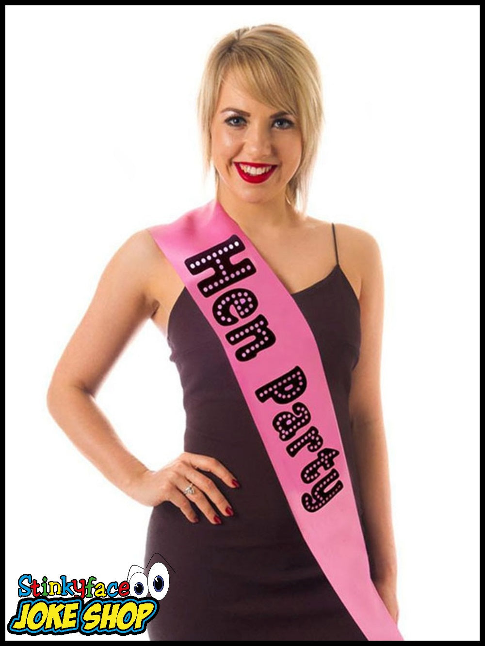 Hen Party Miss Behave Sash Pink