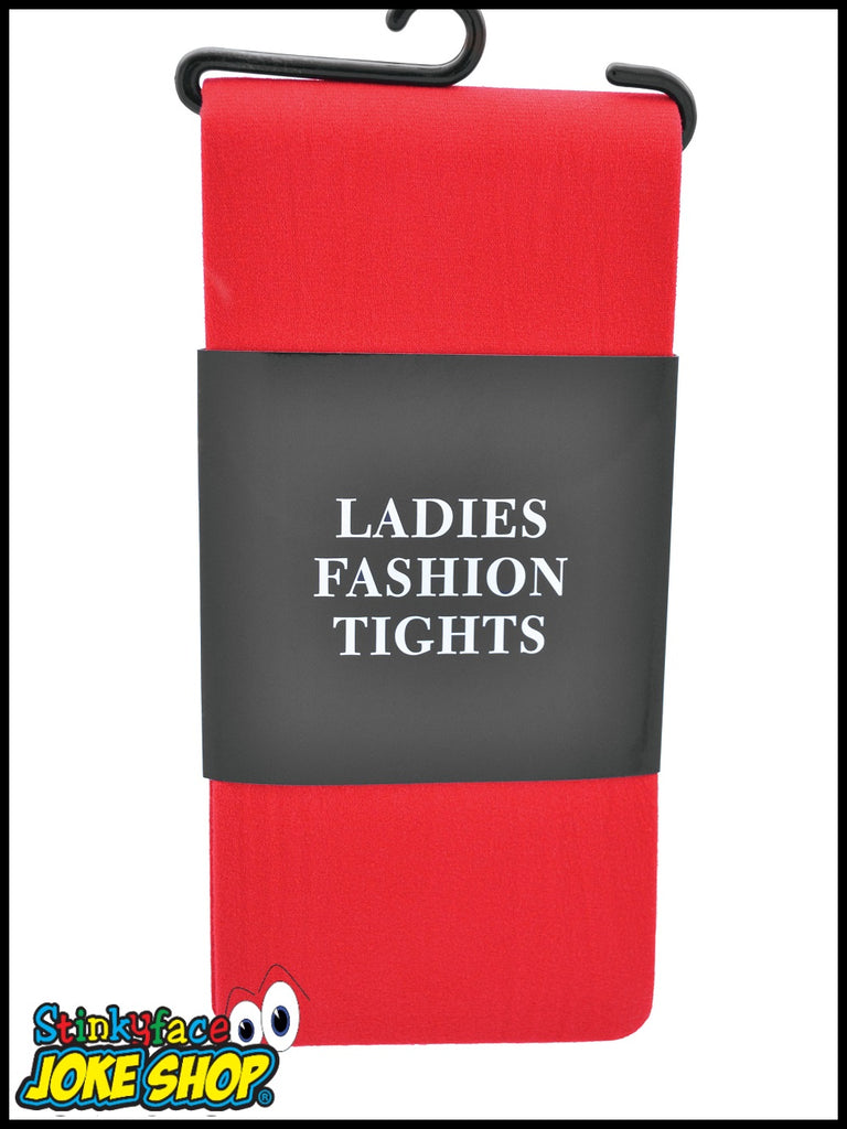 Ladies Red Tights
