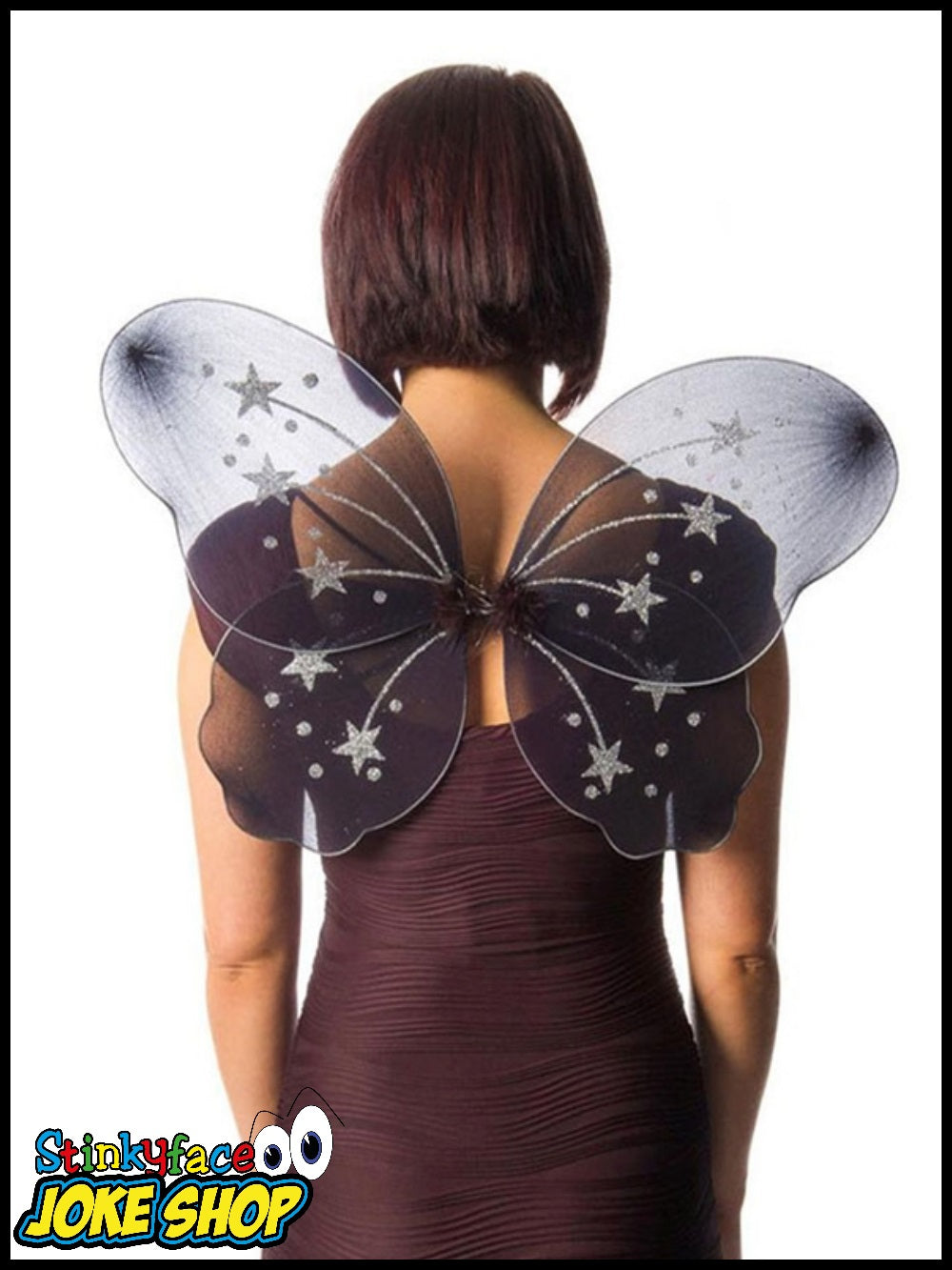 Large Black Fairy Wings - Miss Behave