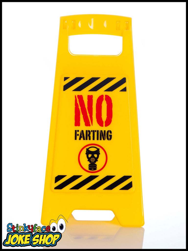 Desk Warnng Sign - No Farting