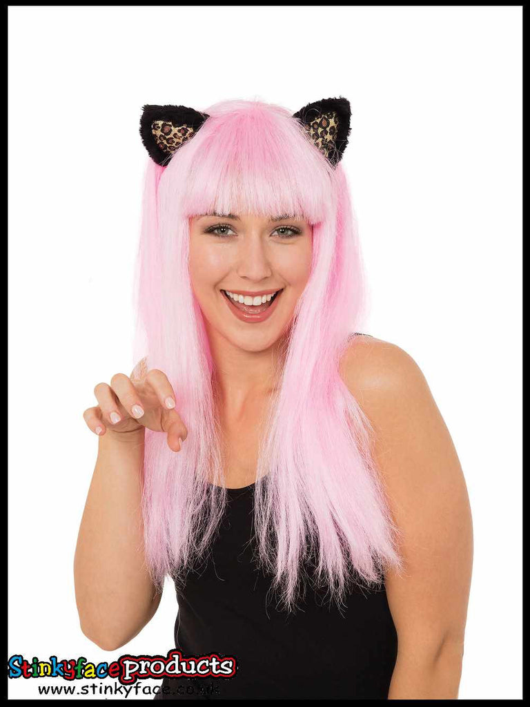 Pink Cat Wig with Ears