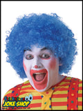 Curly Blue Afro Clown Wig