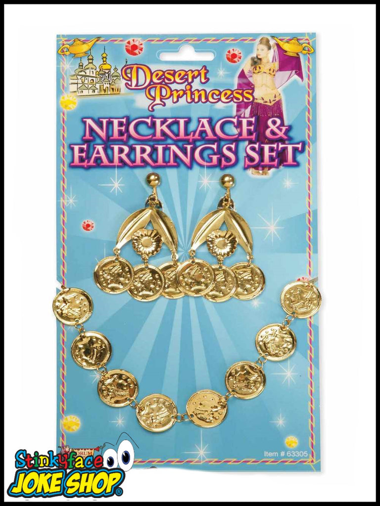 Desert Princess Coin Necklace & Earring Set
