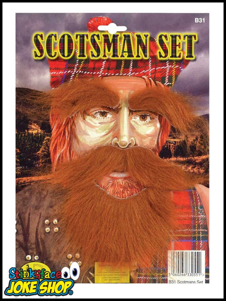 Scotsman Beard & Tash & Eyebrows