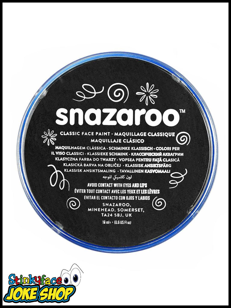 Snazaroo Face Paint- Black 18ml Tub