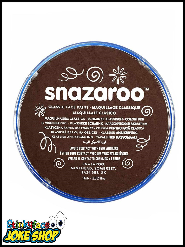 Snazaroo Face Paint- Dark Brown 18ml Tub
