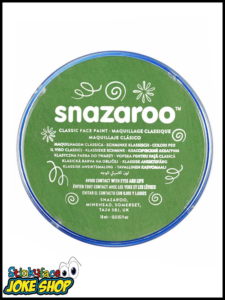 Snazaroo Face Paint- Grass Green 18ml Tub