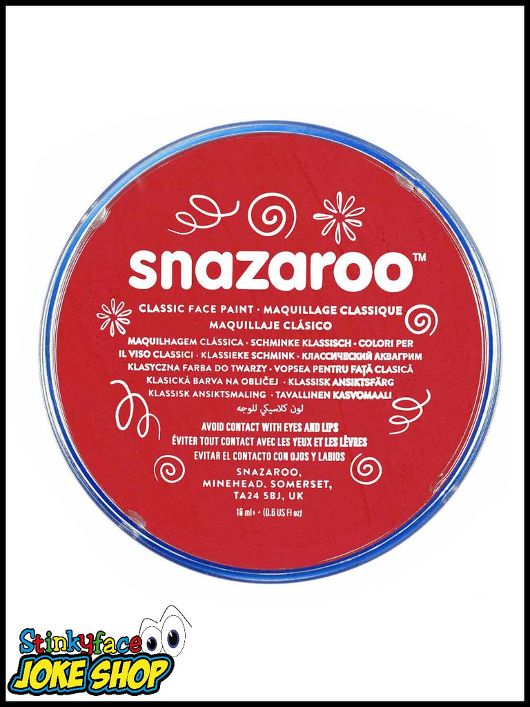 Snazaroo Face Paint- Red 18ml Tub